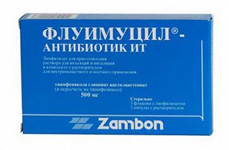 Антибиотик Флуимуцил
